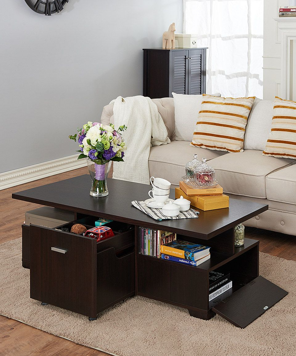 Well Liked Strick & Bolton Sylvia Geometric High Gloss Coffee Tables For Look What I Found On #zulily! Espresso Pull Out Coffee Table (View 7 of 20)