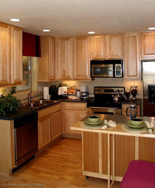 Well Liked Traditional Light Wood Kitchen Cabinets #39 (kitchen Design Pertaining To Norell Kitchen Pantry (View 16 of 20)