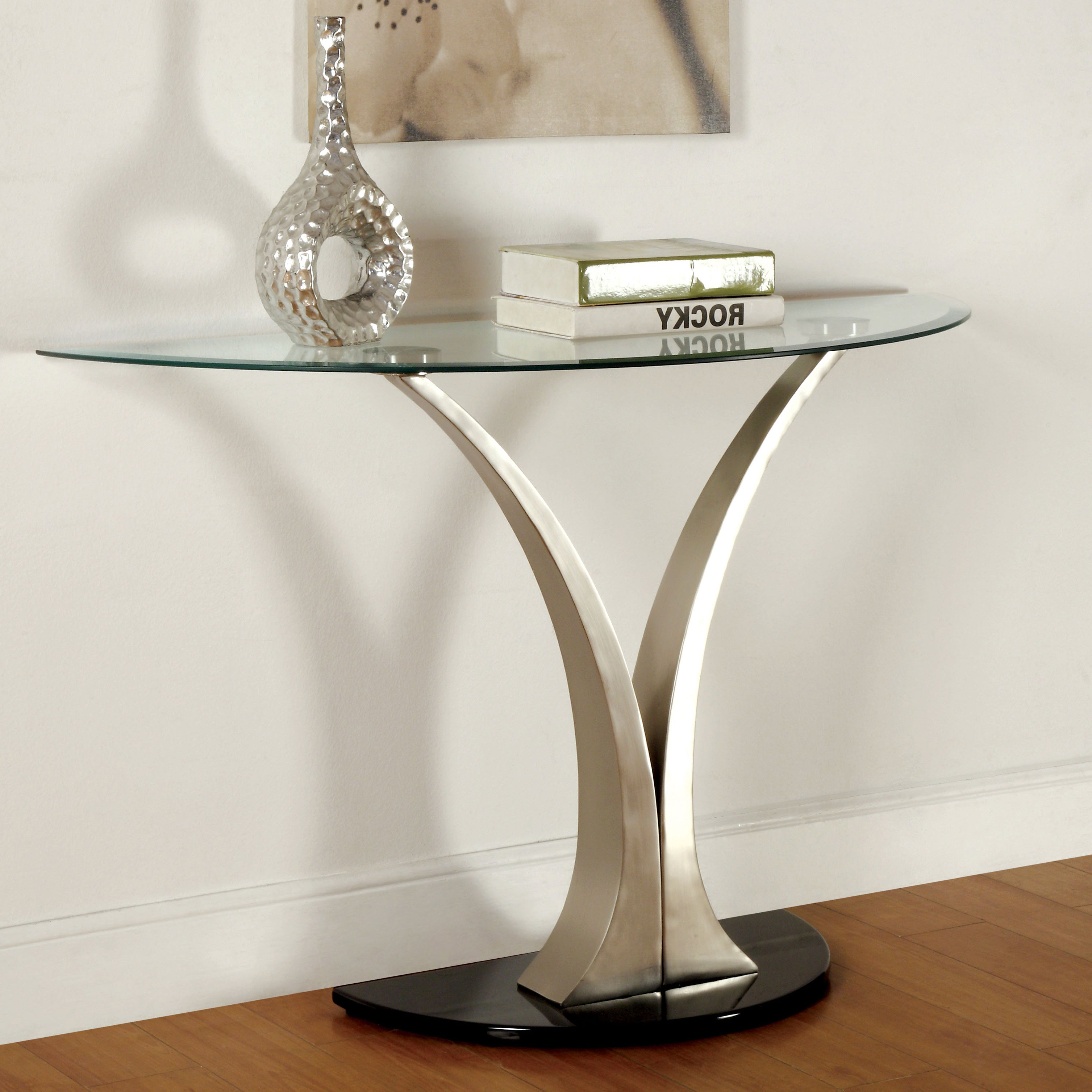 Well Liked Velma Modern Satin Plated Coffee Tables Regarding Velma Modern Satin Plated Sofa Tablefoa (View 5 of 20)