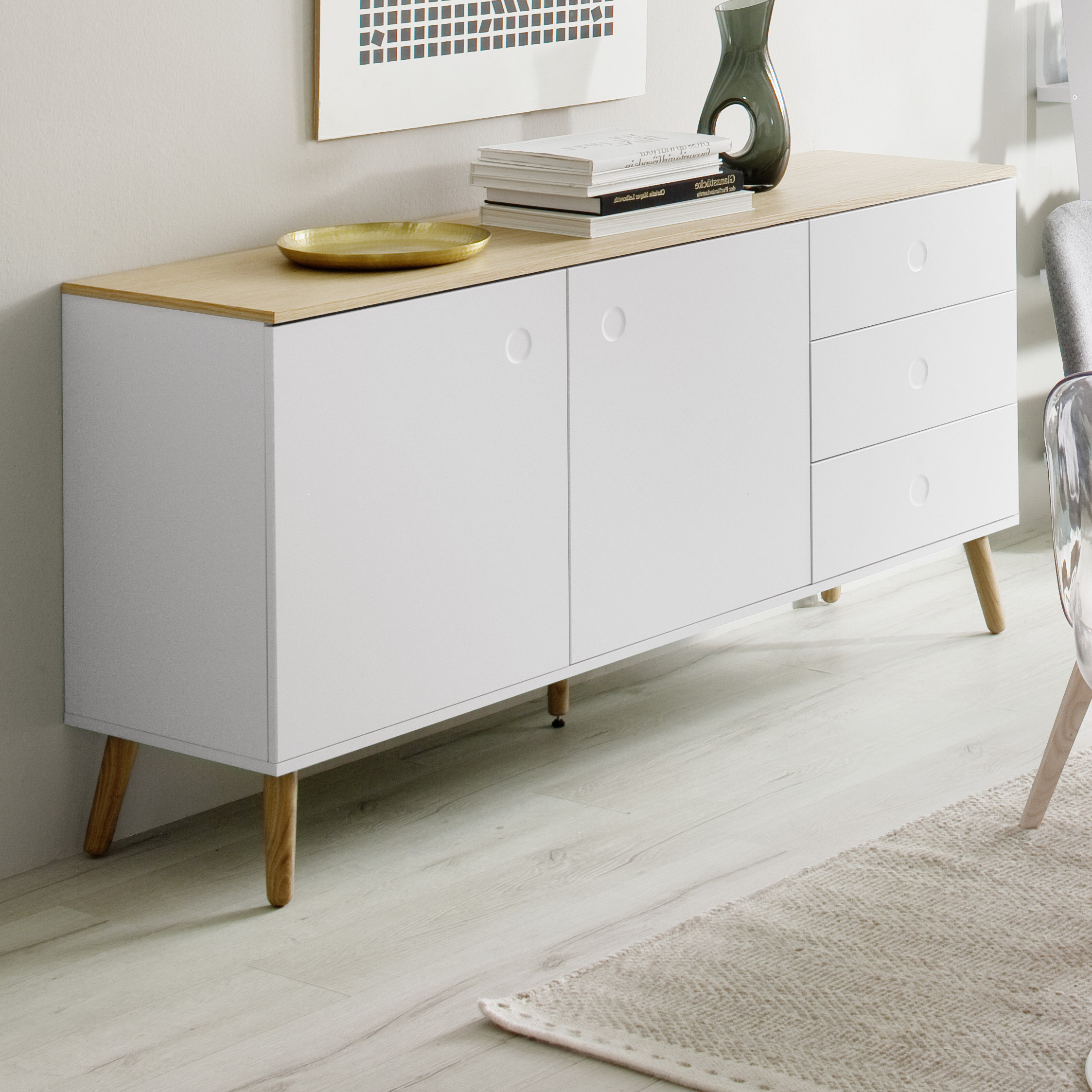 White Lacquer Buffet | Wayfair With Thite Sideboards (View 15 of 20)