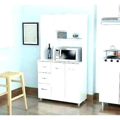 White Microwave Cart – Kampungqurban (View 20 of 20)