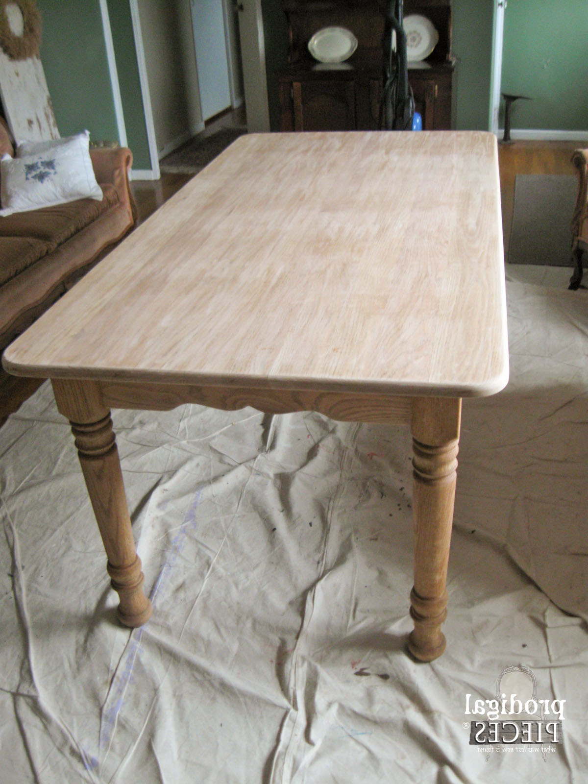 Featured Photo of Handmade Whitewashed Stripped Wood Tables