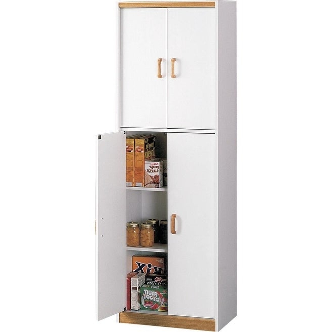 Widely Used Ameriwood Home Deluxe 72 Inch Kitchen Pantry Cabinet Inside Crimmins Kitchen Pantry (View 20 of 20)