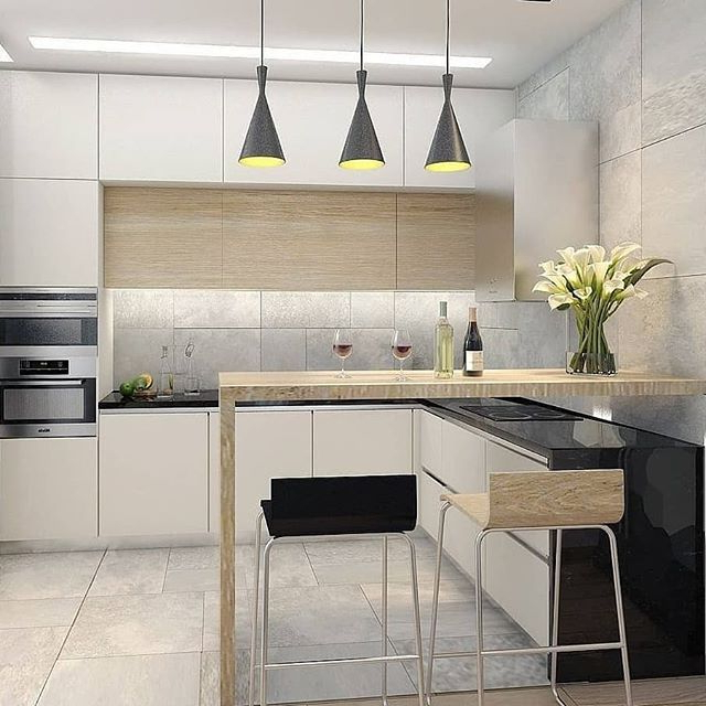 Widely Used Another Small Kitchen With Breakfast Counter And Three With Amaia 3 Piece Kitchen Pantry (View 19 of 20)