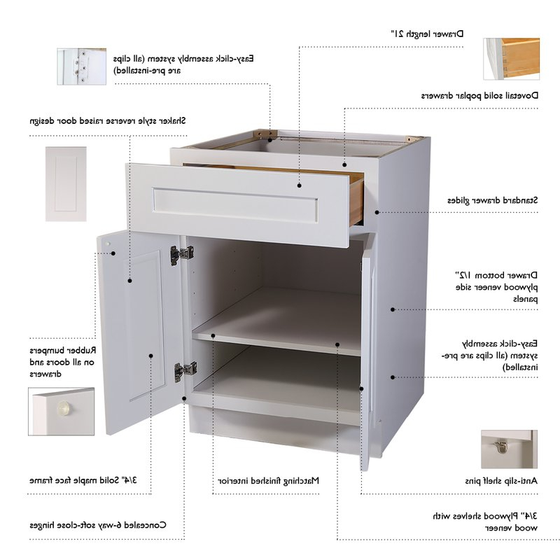 """Widely Used Brookings Kitchen Pantry Inside Brookings 84"""" Kitchen Pantry (View 20 of 20)"""