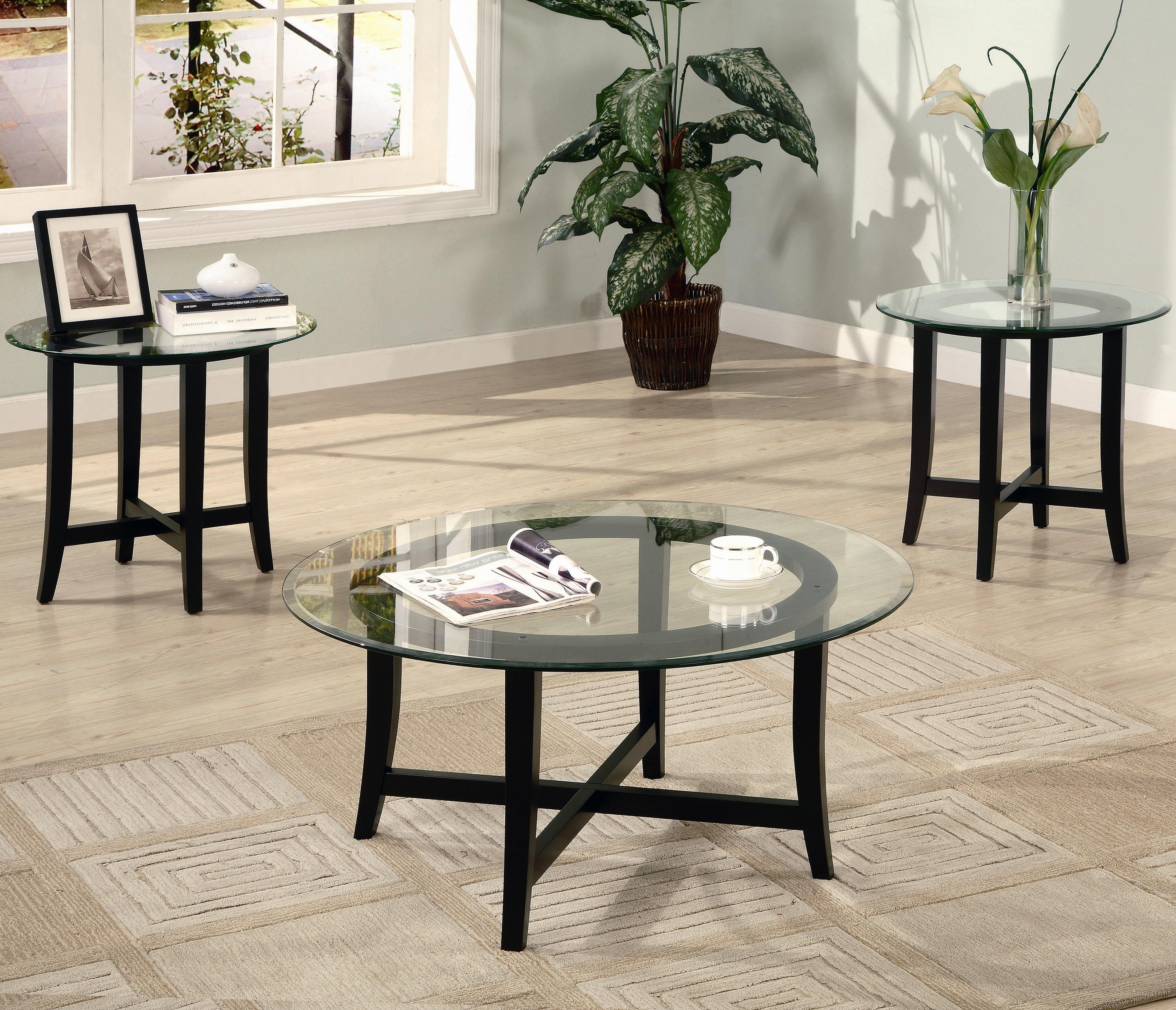 Widely Used Coaster Company Silver Glass Coffee Tables Inside Occasional Table Sets (3 Piece Table Sets)coaster – Sam (View 10 of 20)
