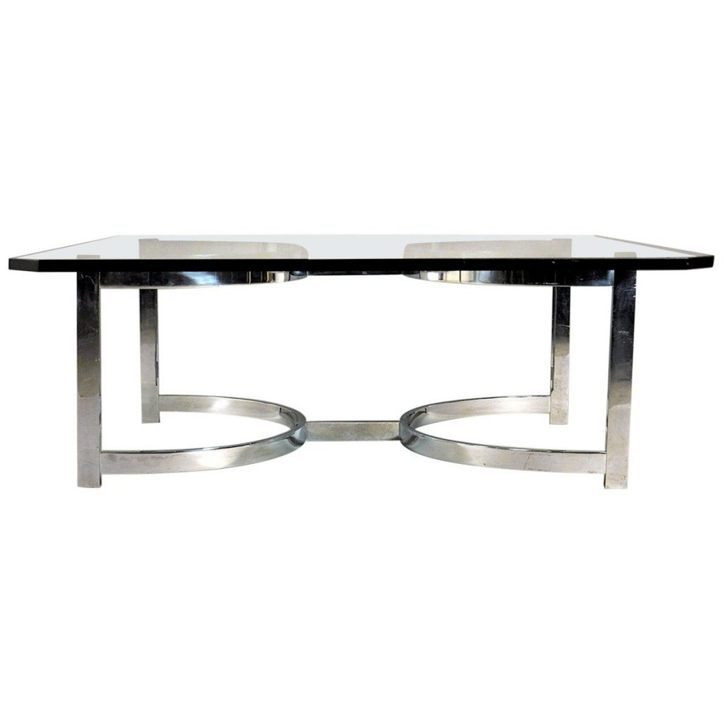 Widely Used Cortesi Home Remi Contemporary Chrome Glass Coffee Tables Within Coffe Table: 65 Chrome Glass Coffee Table Image Ideas (View 20 of 20)