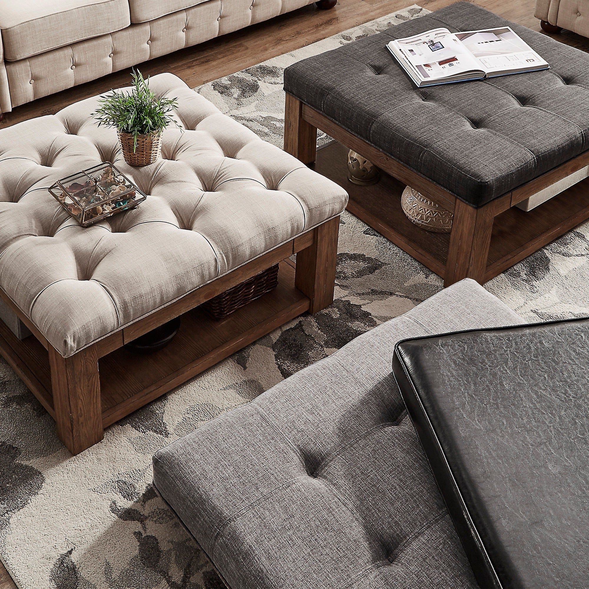 Widely Used Lennon Pine Planked Storage Ottoman Coffee Tables Intended For Details About Lennon Pine Square Storage Ottoman Coffee Tableinspire Q (View 10 of 20)