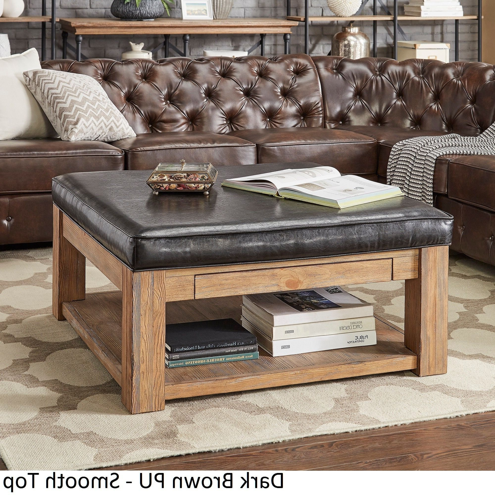 Widely Used Lennon Pine Square Storage Ottoman Coffee Tables With Regard To Lennon Pine Square Storage Ottoman Coffee Tabletribecca (View 20 of 20)