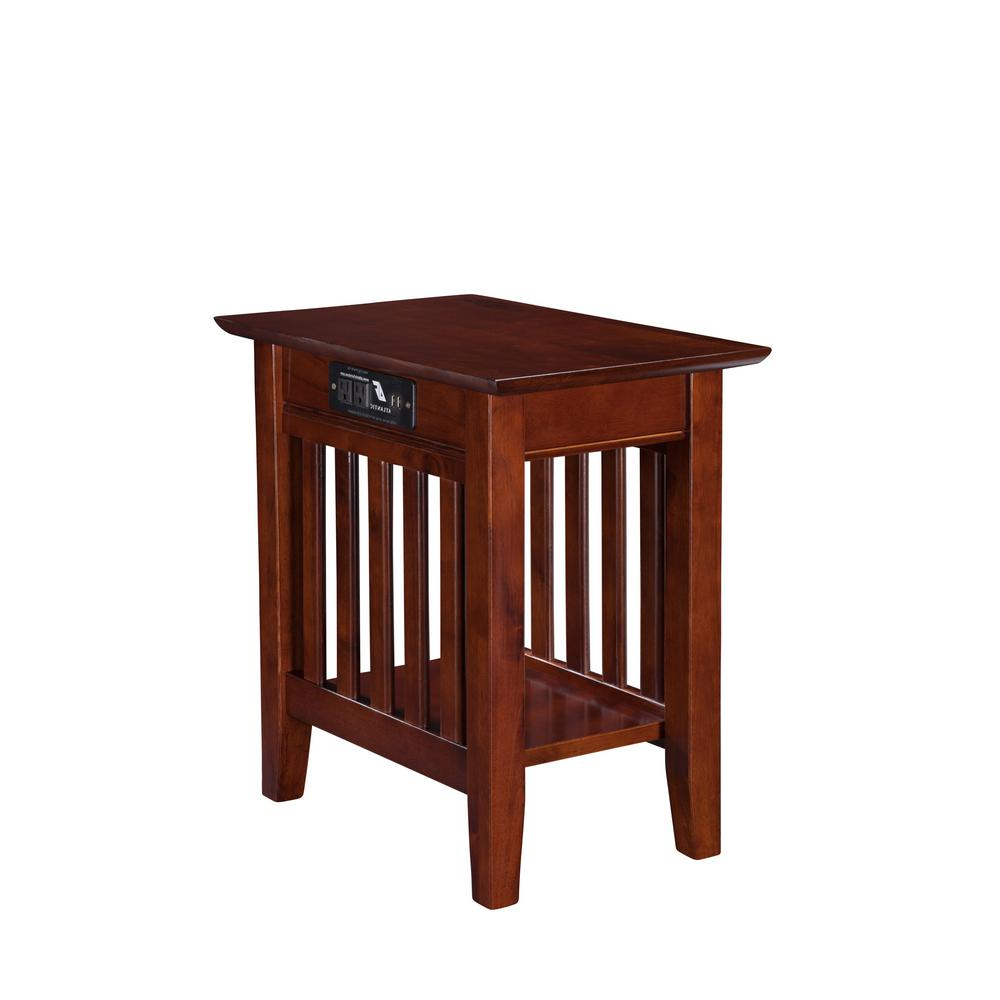 Widely Used Mission Walnut Coffee Tables Regarding Atlantic Furniture Mission Walnut Chair Side Table With (View 19 of 20)