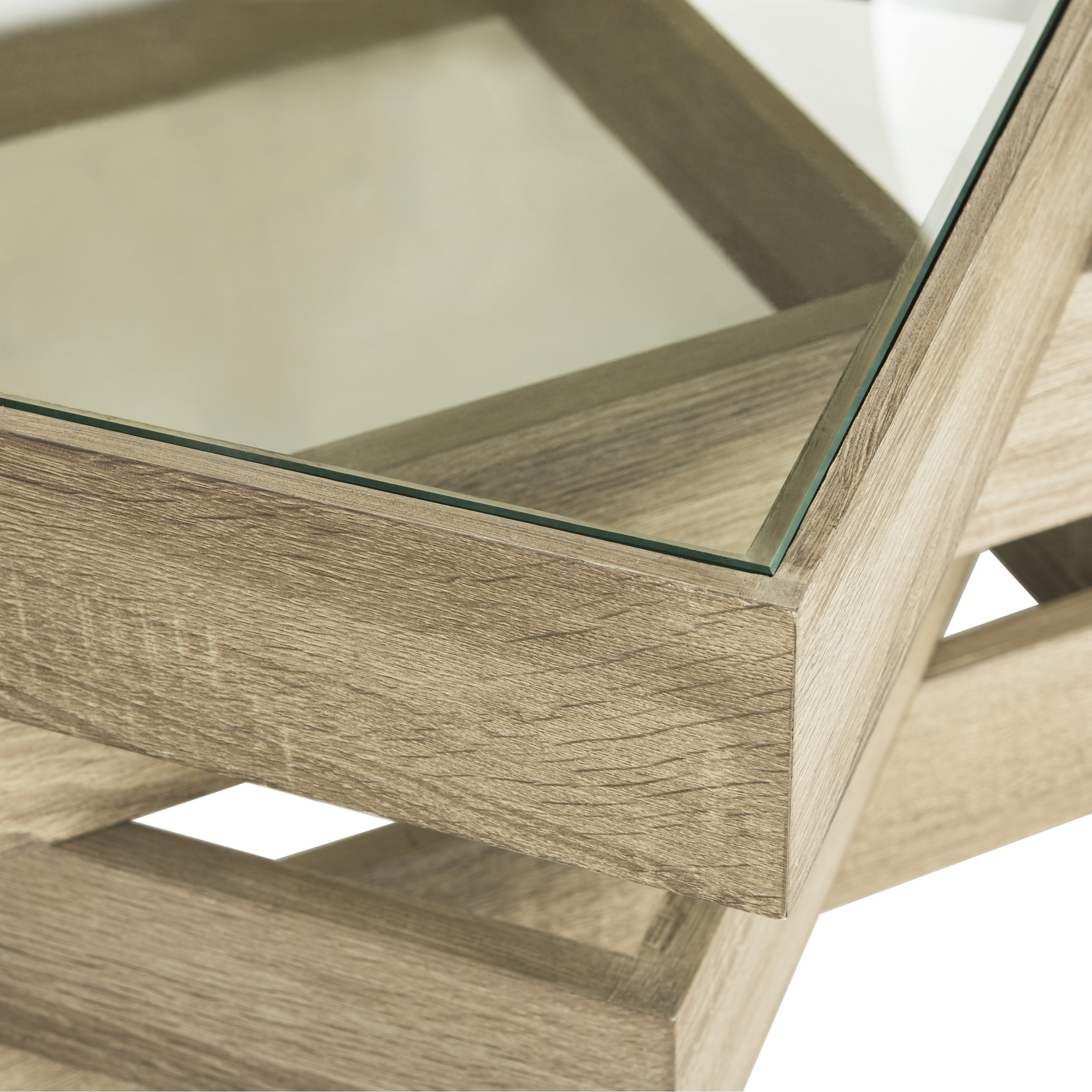 """Widely Used Safavieh Anwen Geometric Wood Coffee Tables With Safavieh Anwen Geometric Wood Coffee Table – 33.5"""" X 33.5"""" X (View 4 of 20)"""