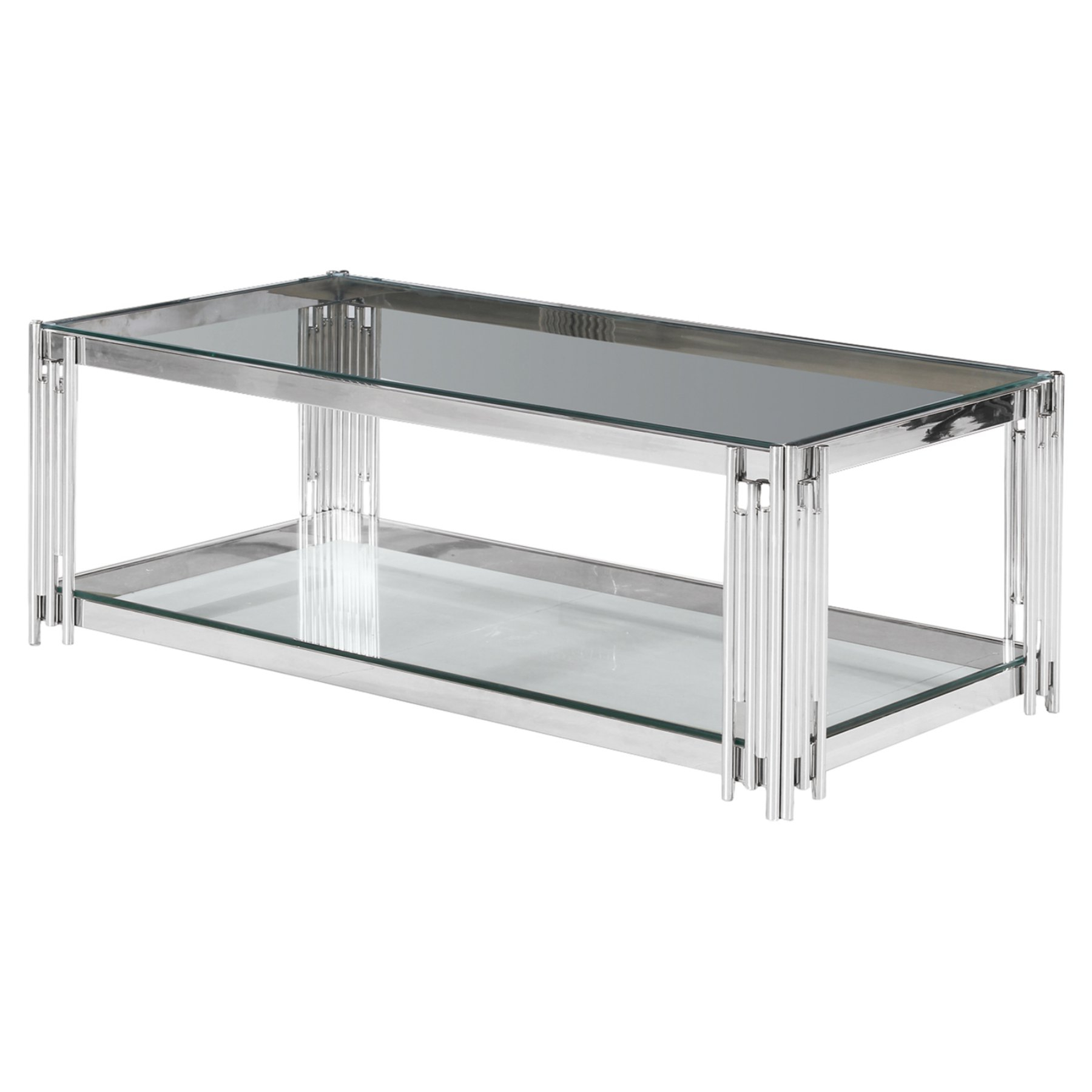 Widely Used Strick & Bolton Jules Chrome And Glass Coffee Tables Intended For Sagebrook Home 2 Tier Cocktail Table (View 10 of 20)