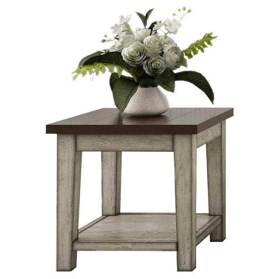 Widely Used The Gray Barn O'quinn Weathered Bark And White Castered Cocktail Tables With The Gray Barn Vermejo Weathered Bark And White End Table (View 11 of 20)