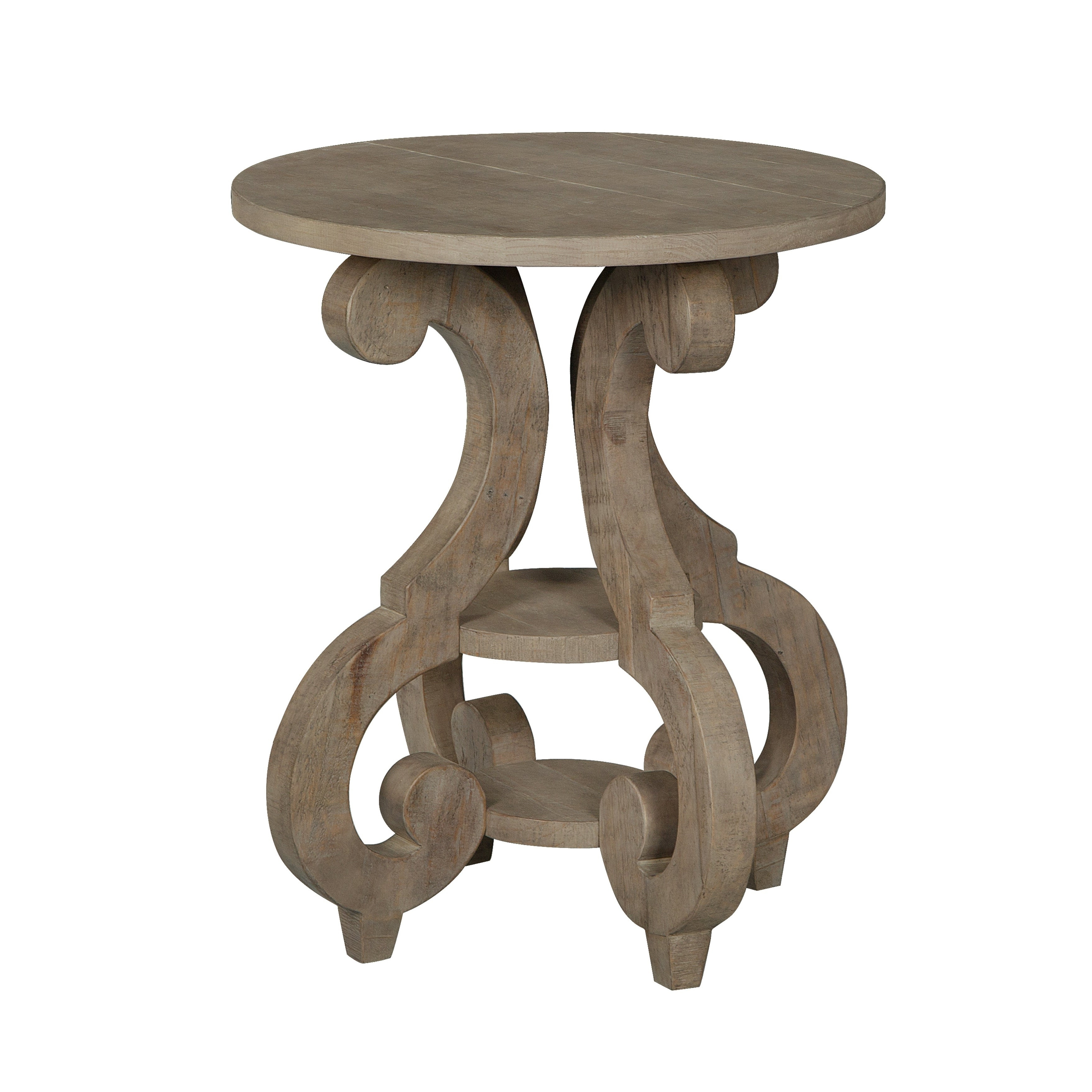 Widely Used Tinley Park Traditional Dove Tail Grey Coffee Tables Within Tinley Park Traditional Dove Tail Grey Round Accent Table (View 5 of 20)