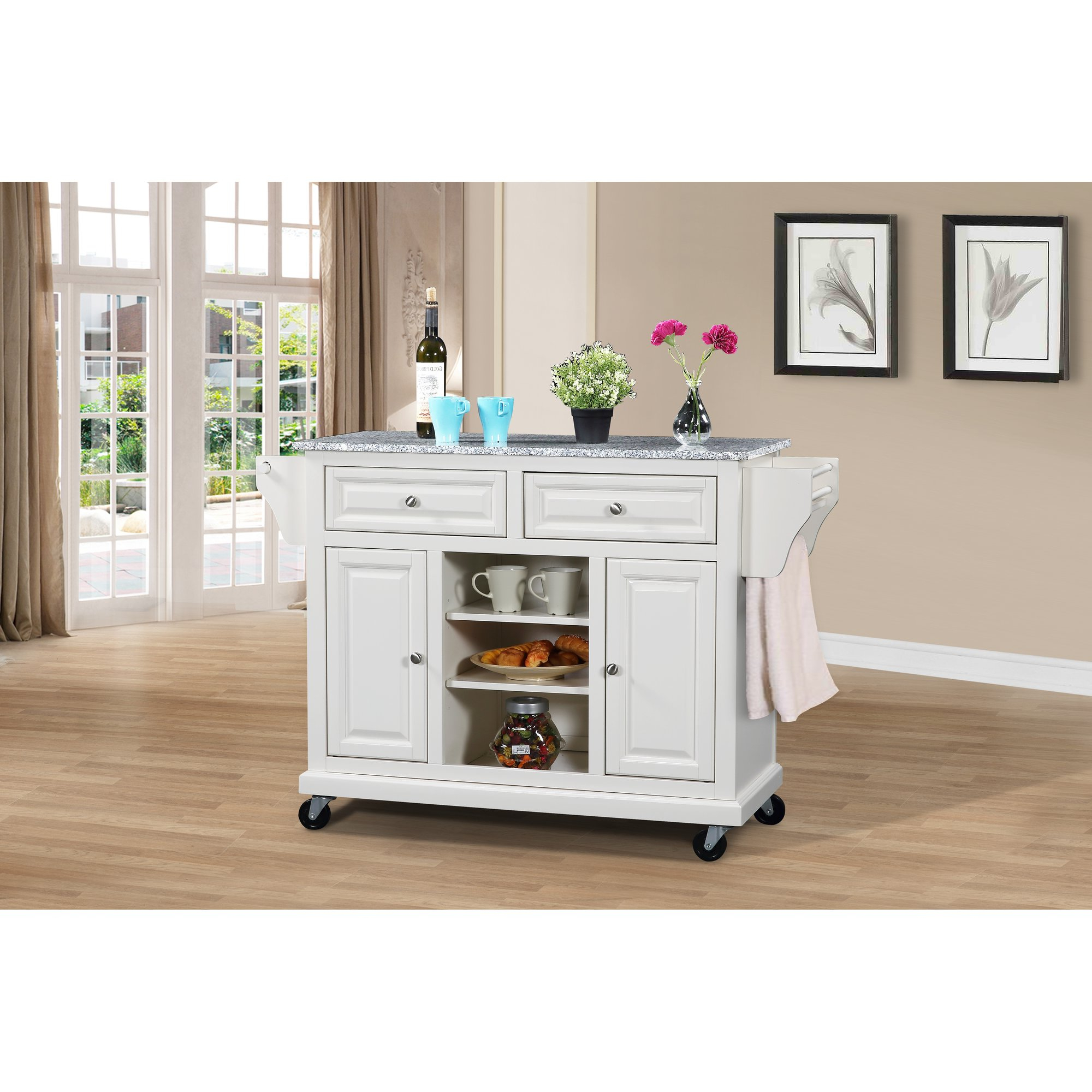 Wildon Home Kitchen Island With Granite Top Reviews New Age For Sideboards By Wildon Home (View 13 of 20)
