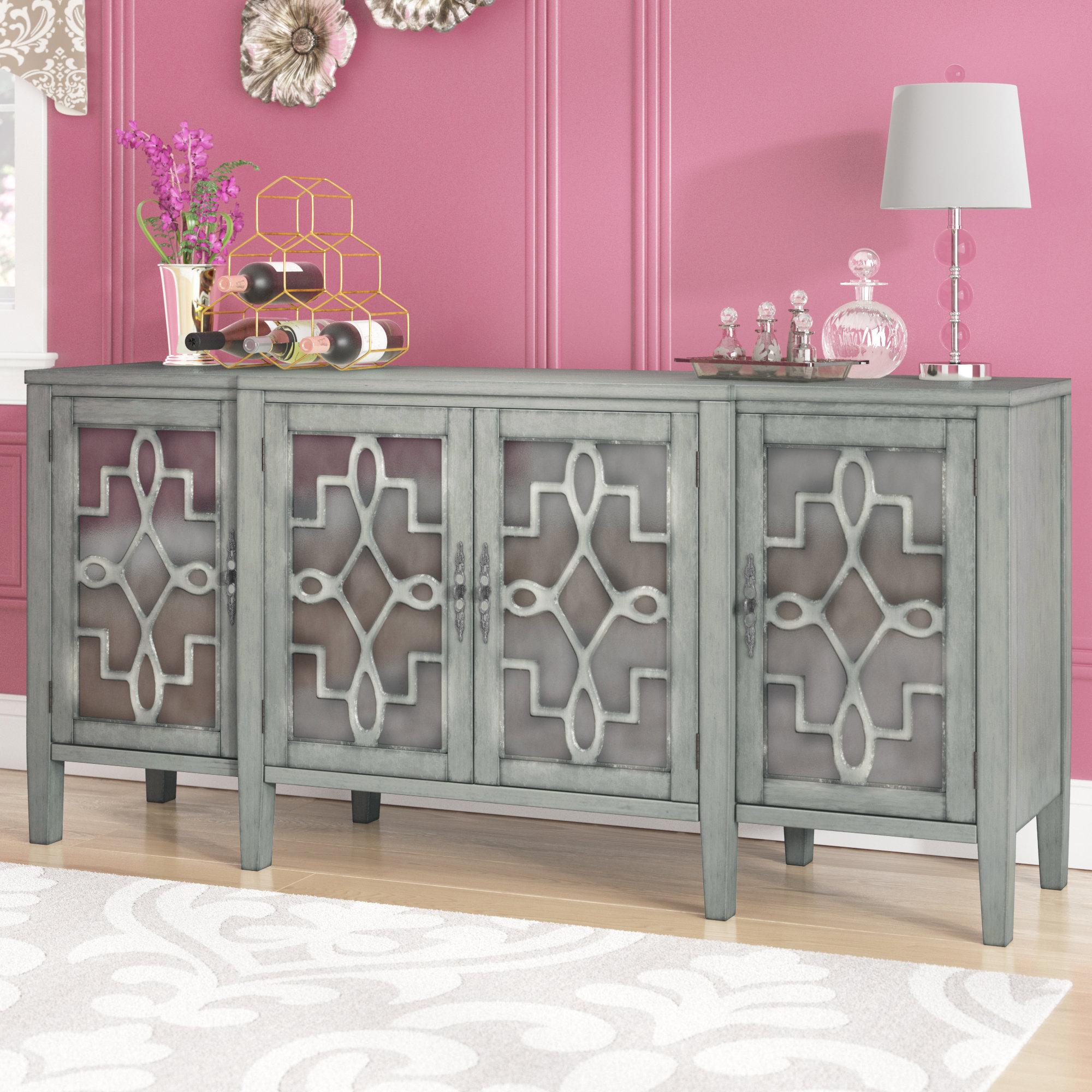 Willa Arlo Interiors Chantel 4 Door Accent Cabinet For Kattie 4 Door Cabinets (View 10 of 20)