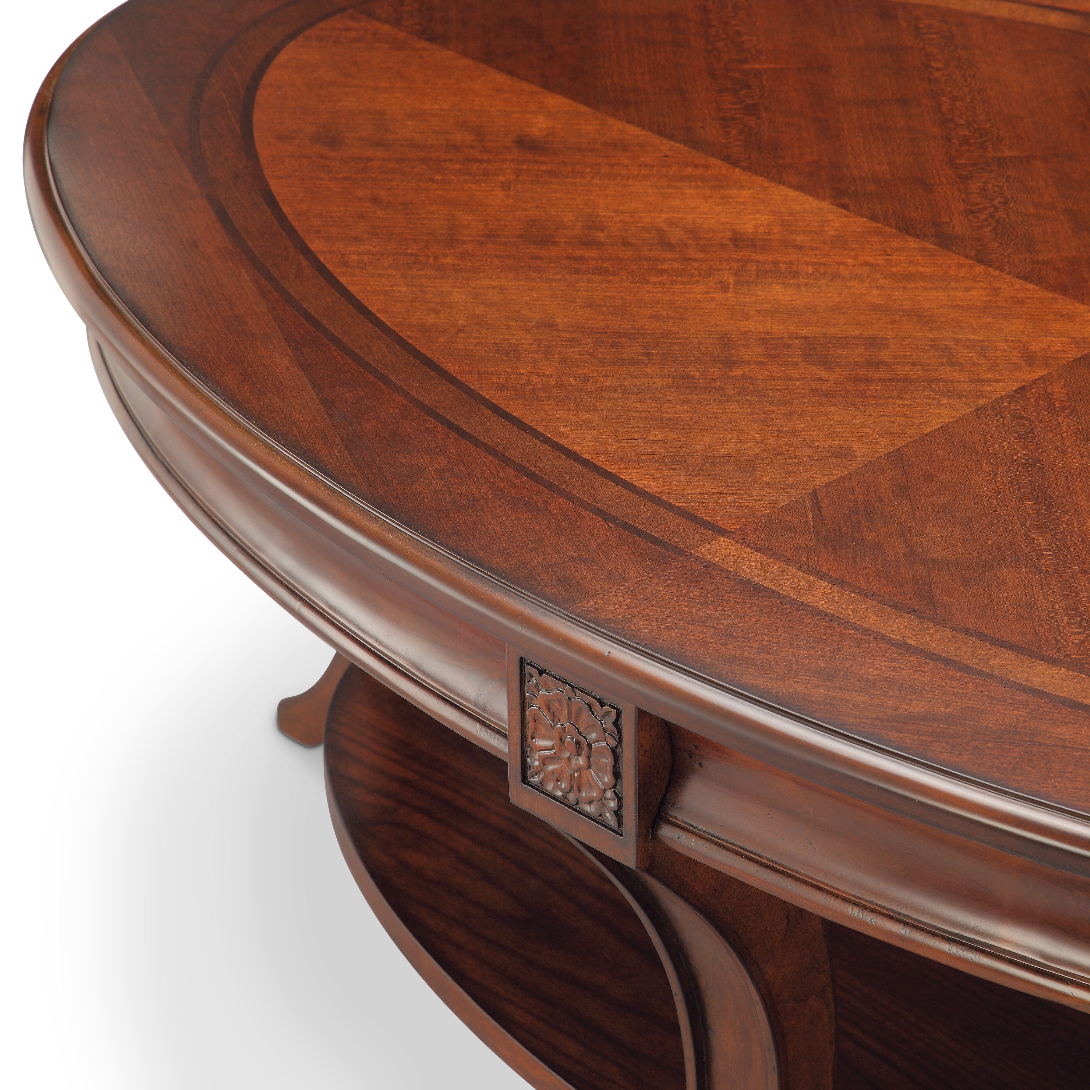 Winslet Cherry Finish Wood Oval Coffee Table With Casters For Best And Newest Winslet Cherry Finish Wood Oval Coffee Tables With Casters (View 2 of 20)