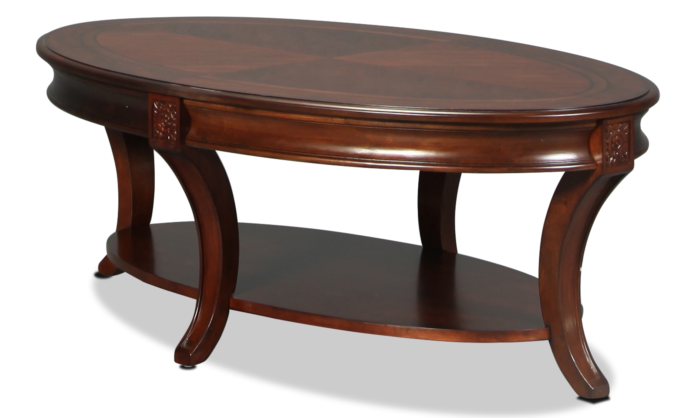 Winslet Cocktail Table – Cherry For Most Recent Winslet Cherry Finish Wood Oval Coffee Tables With Casters (View 15 of 20)