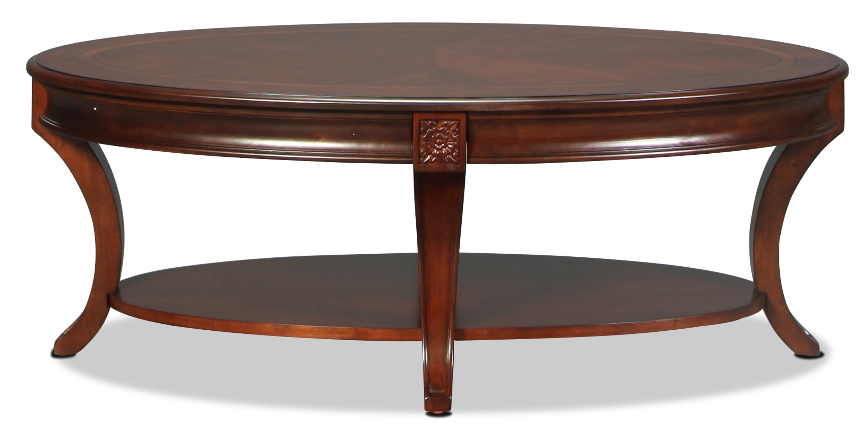 Winslet Cocktail Table – Cherry With Regard To 2019 Winslet Cherry Finish Wood Oval Coffee Tables With Casters (View 3 of 20)