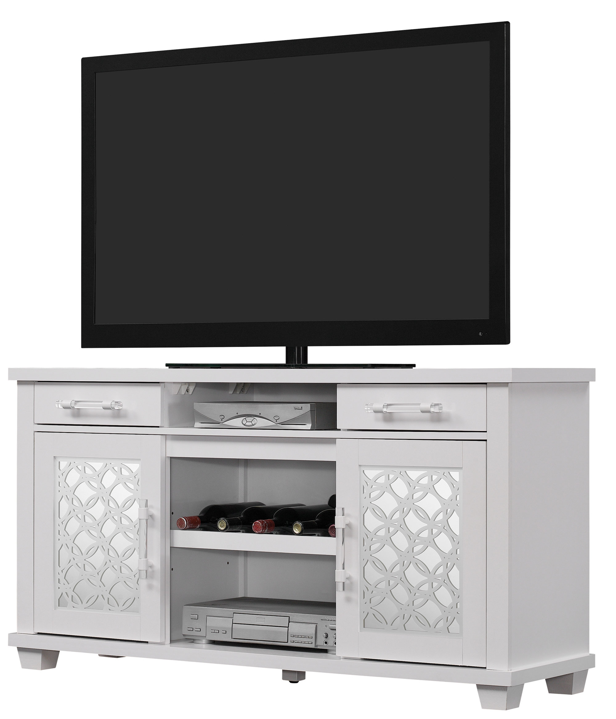 "Wood Credenza Tv Stand | Wayfair For Ericka Tv Stands For Tvs Up To 42"" (View 11 of 20)"