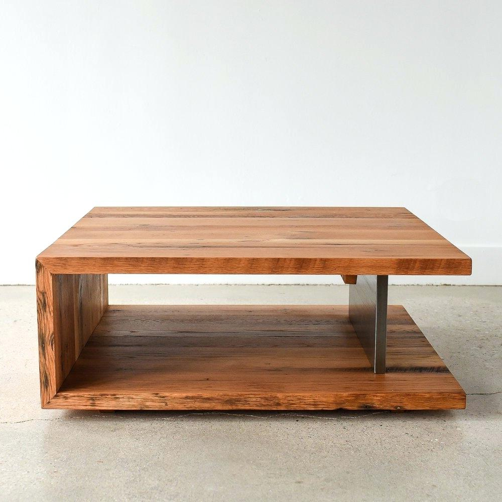 Wood Square Coffee Table – Thegiggles (View 17 of 20)