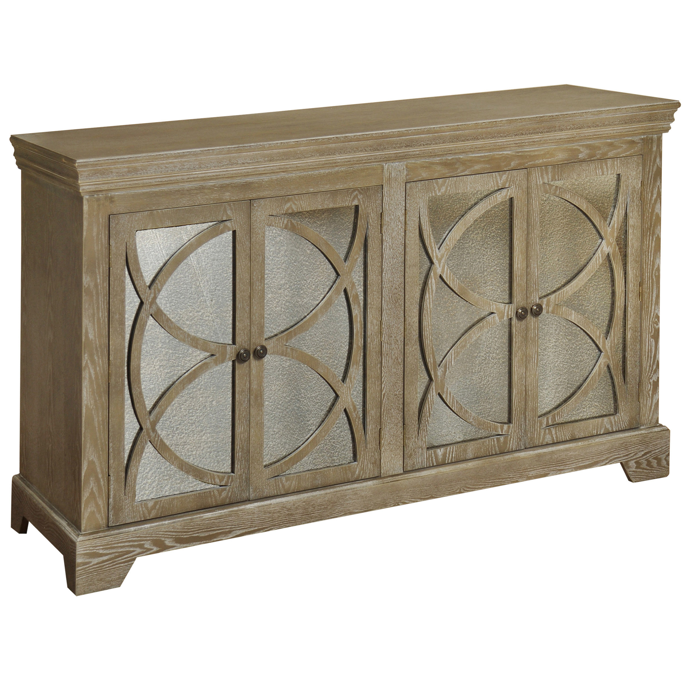 World Menagerie Poirier 4 Door Credenza | Wayfair With Aberdeen Westin Sideboards (View 9 of 20)