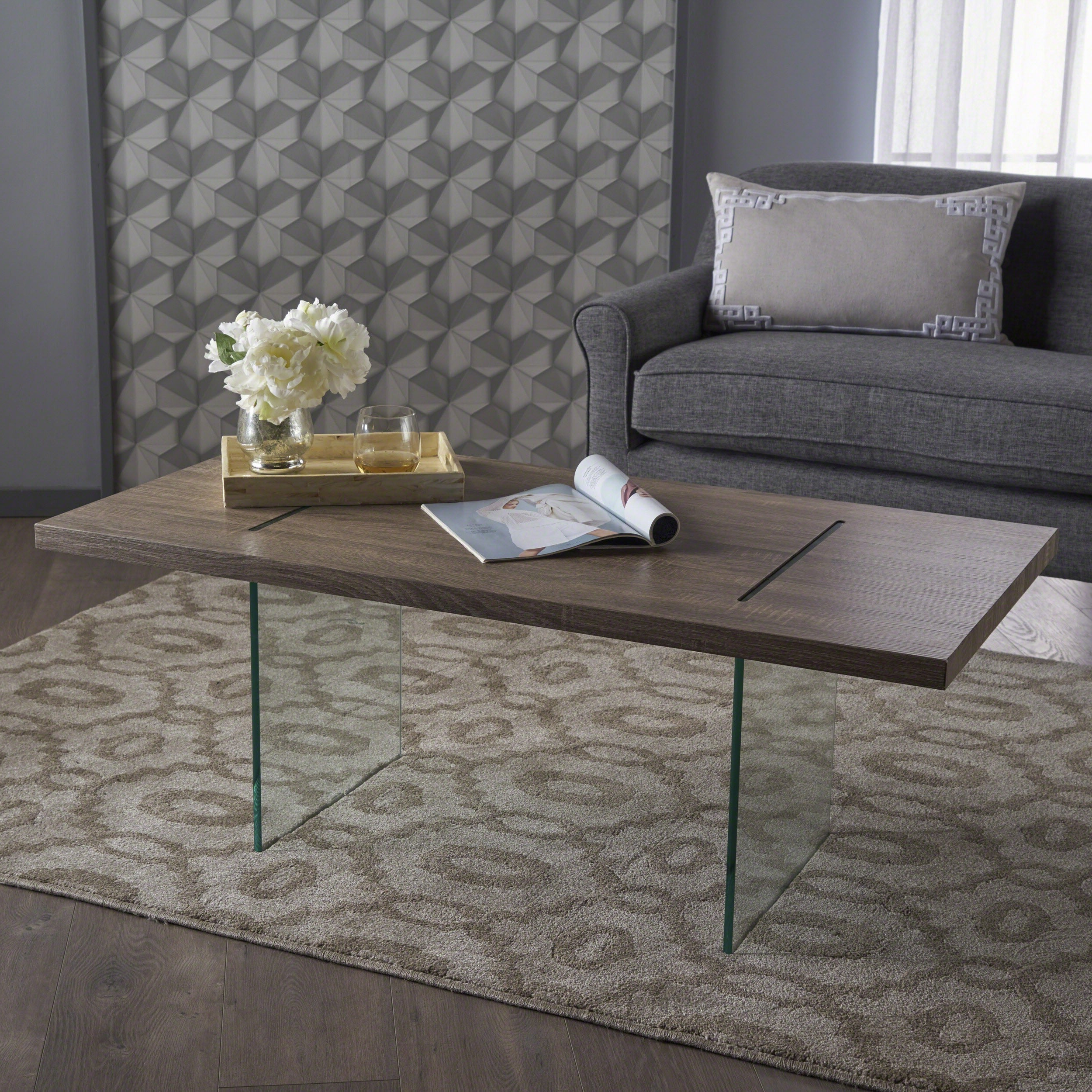 Wren Modern Rectangle Glass Coffee Tablechristopher Knight Home With Most Current Finbar Modern Rectangle Glass Coffee Tables (View 20 of 20)
