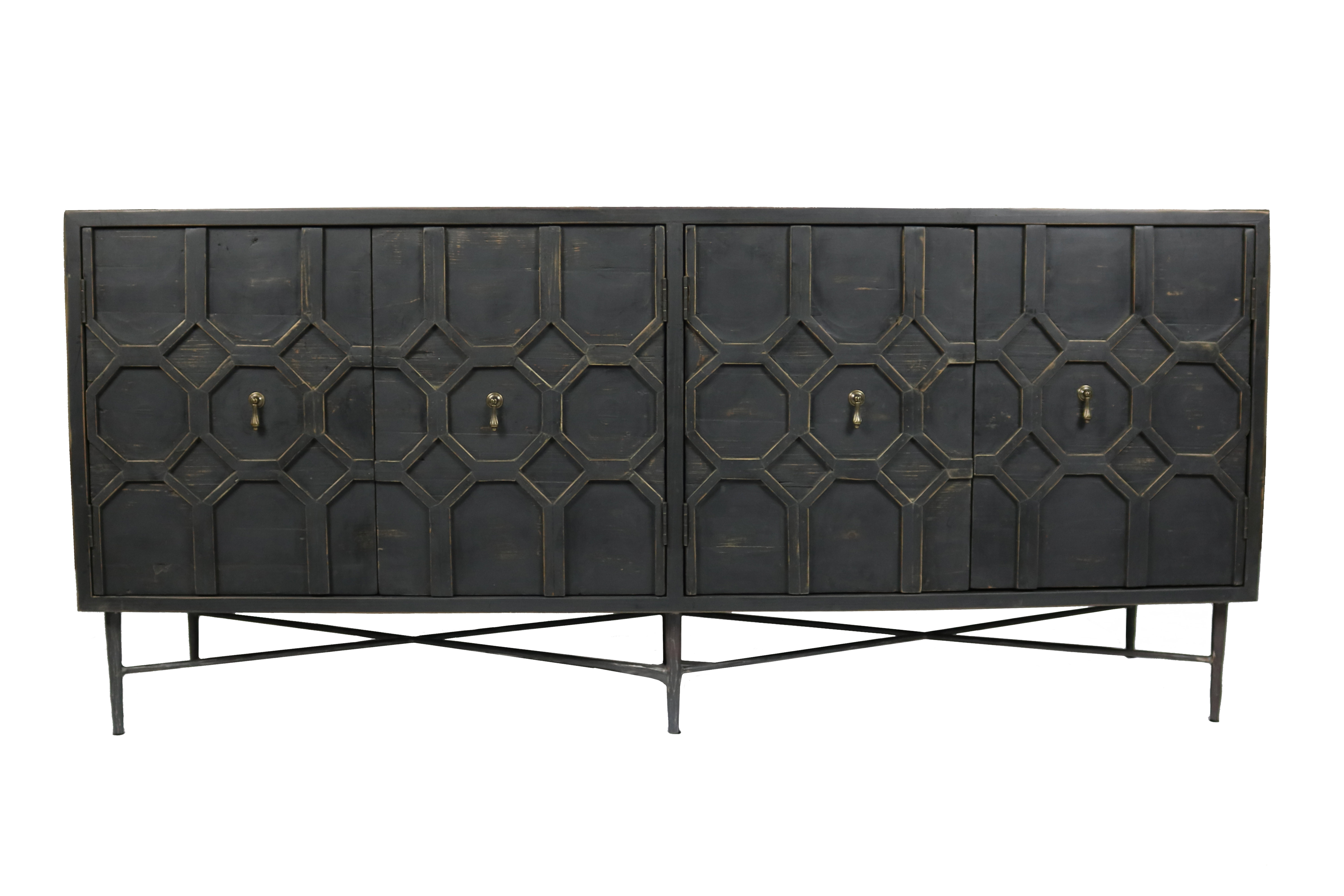 Yulin 4 Door Sideboard Within Kendall Sideboards (View 20 of 20)