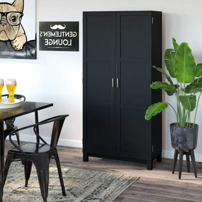 Zahara 2 Door Storage Cabinet In Favorite Tiberius Door Storage Cabinet (Gallery 20 of 20)