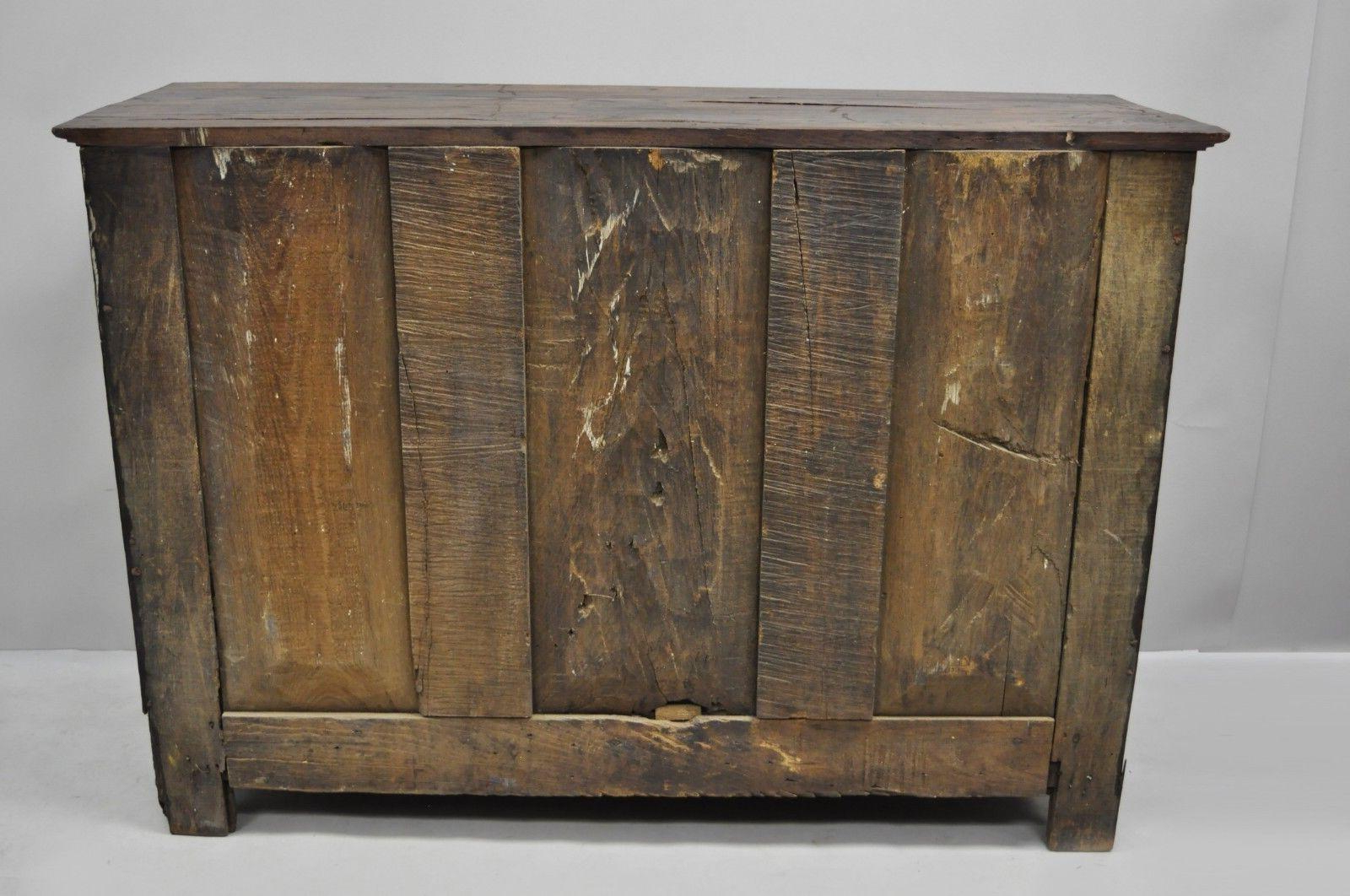 17Th Century Carved Walnut Italian Baroque Two Door Credenza Cabinet Buffet Intended For Vintage Walnut Sliding Door Buffets (View 1 of 20)