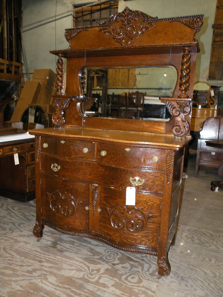 1800's Sideboard Curved 3 Drawer 2 Doors | Other In 2019 In 2 Shelf Buffets With Curved Legs (View 1 of 20)