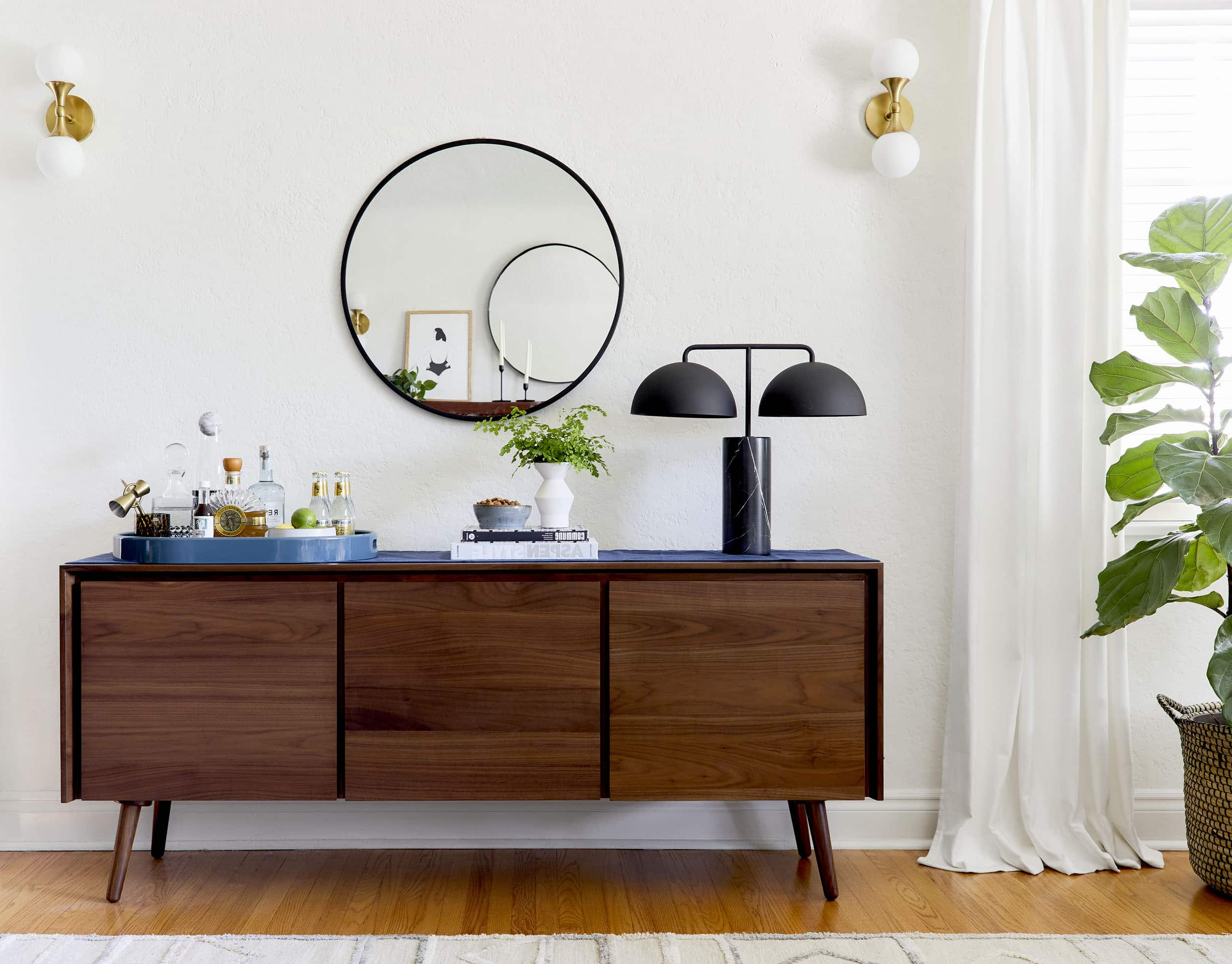 "4 Ways To Style That Credenza For ""real Life"" + Shop Our For Multi Colored Geometric Shapes Credenzas (View 1 of 20)"