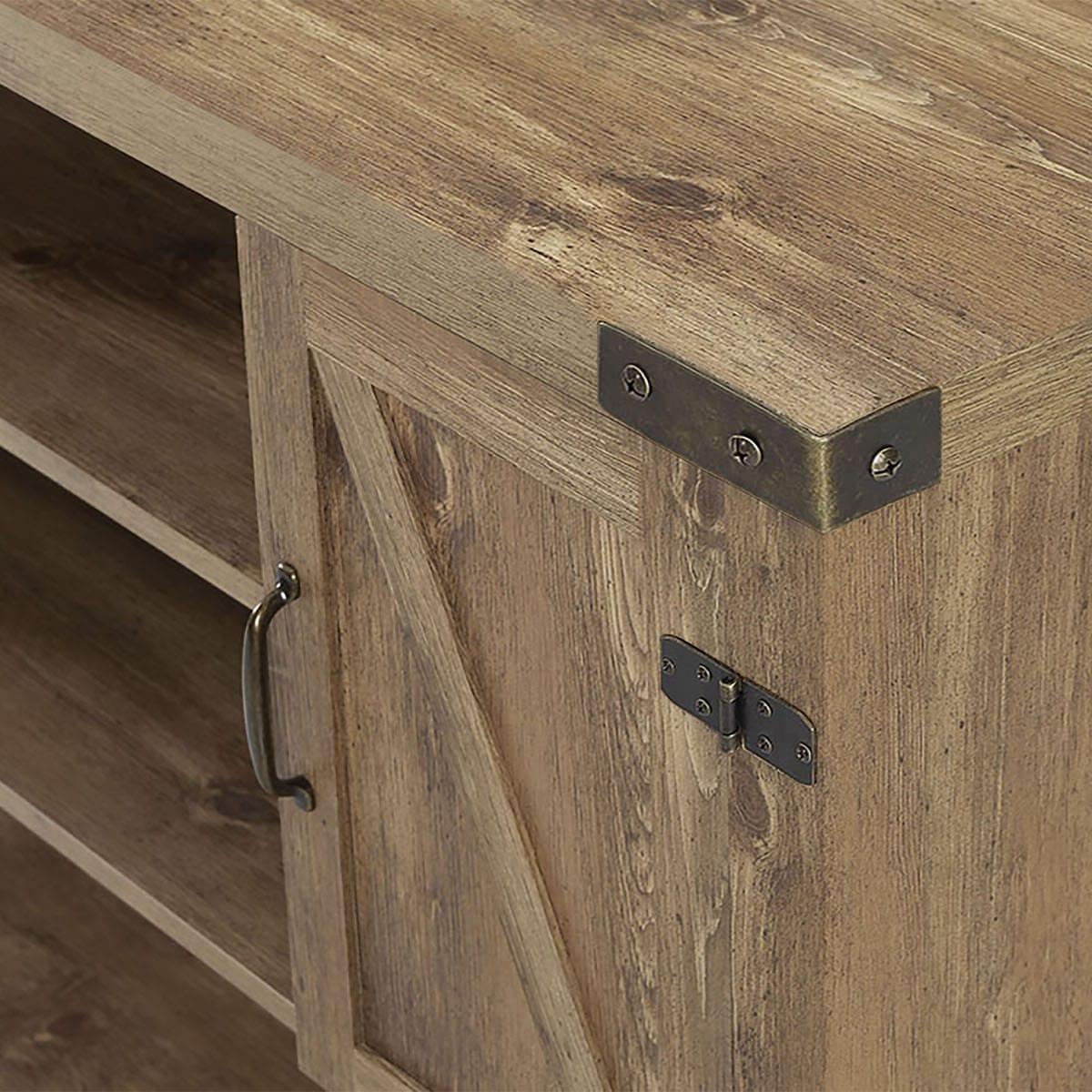 52 Inch Barn Door Buffet Table Console Tv Stand – Barnwoodwalker Edison Regarding Espresso Sliding Door Stackable Buffets (View 1 of 20)