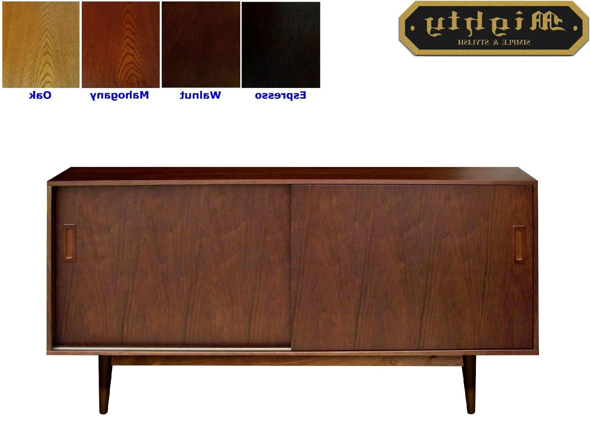 54 Inch Walnut Mid Century Modern Kitchen Dresser – Taiwan – In Mid Century Retro Modern Oak And Espresso Wood Buffets (View 2 of 20)