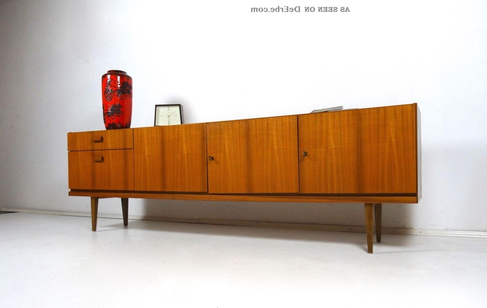 60Er Design Sideboard Danish Modern Möbel Teak Mid Century 50Er Within Mid Century Modern Scandinavian Style Buffets (View 1 of 20)