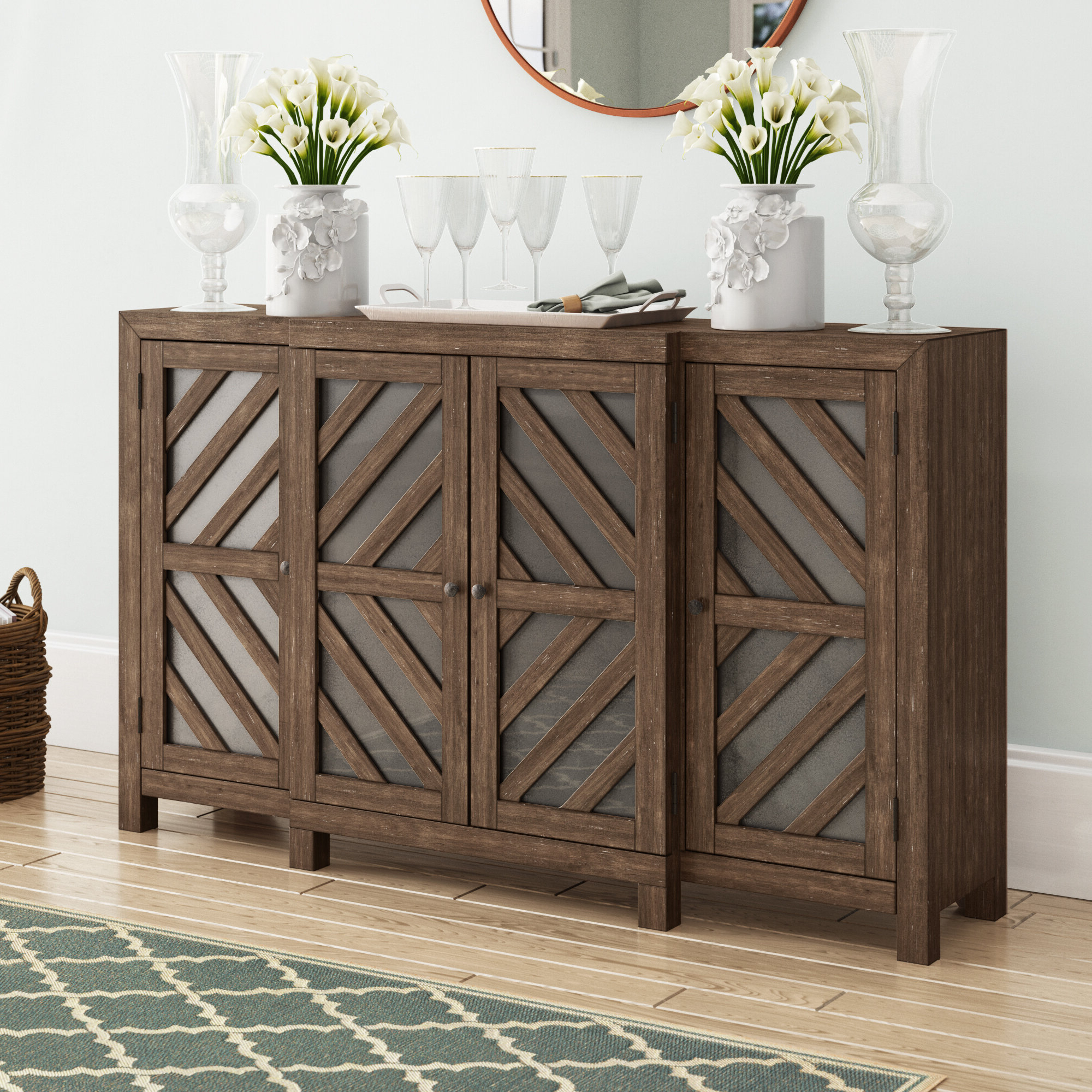 72 Inch Credenza | Wayfair Within Floral Beauty Credenzas (View 1 of 20)