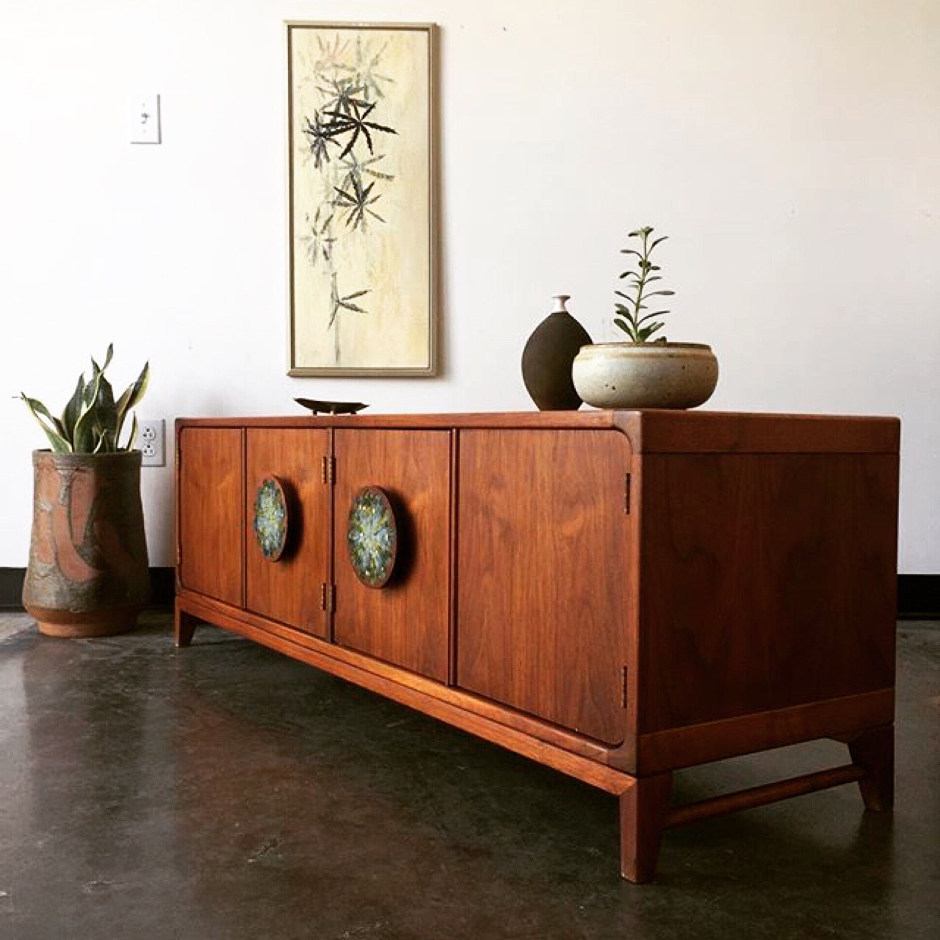 A Midcentury Modern Credenza Looking Very Much At Home With With Retro Holistic Credenzas (View 7 of 20)
