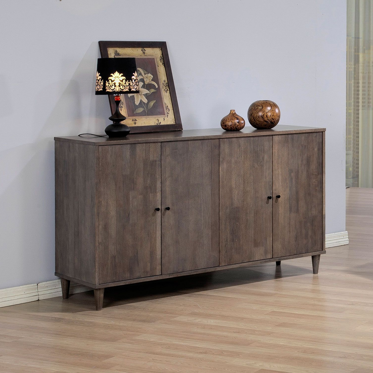 Add A Stylish Look To Any Space With This Light Charcoal Throughout Strick & Bolton Dallas Walnut Buffets (View 3 of 20)