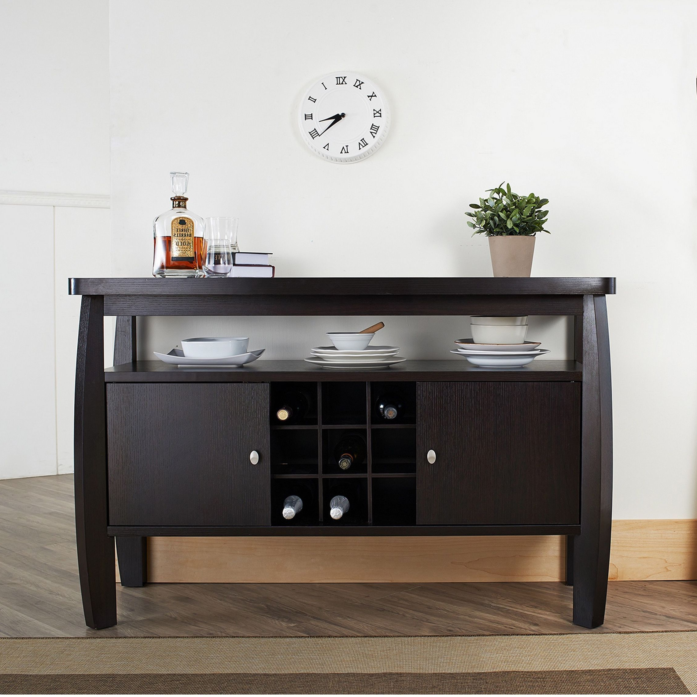 Add An Elegant Touch To Any Room With This Durable Espresso Pertaining To Contemporary Espresso Dining Buffets (View 1 of 20)