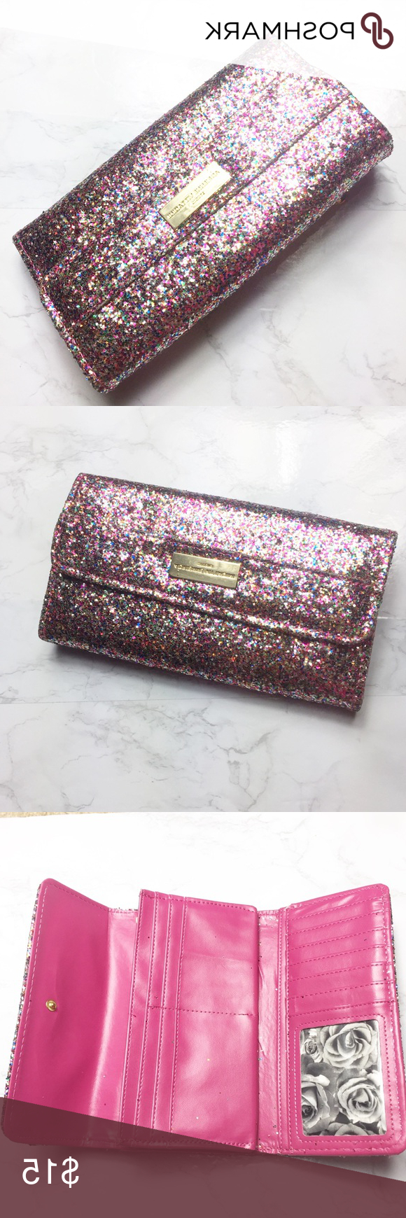 Adrienne Vittadini Glitter Wallet | My Posh Picks Throughout Juicy Guava Credenzas (View 15 of 20)