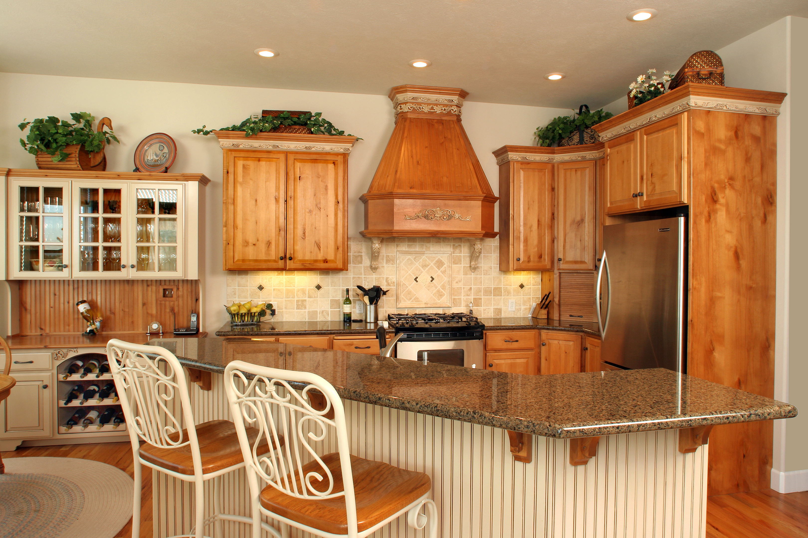 Affordable Custom Cabinets – Showroom Intended For Medium Cherry Buffets With Wood Top (View 5 of 20)