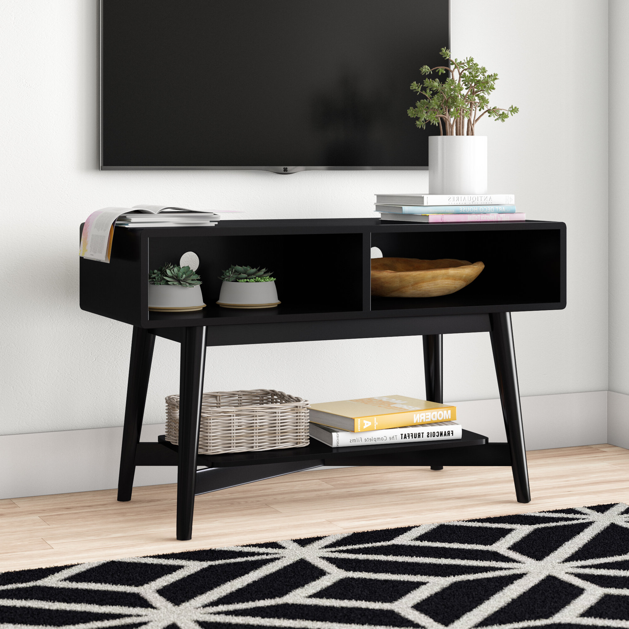 """Ali Tv Stand For Tvs Up To 42"""" In Carbon Loft Feleni Contemporary Buffets (View 17 of 20)"""