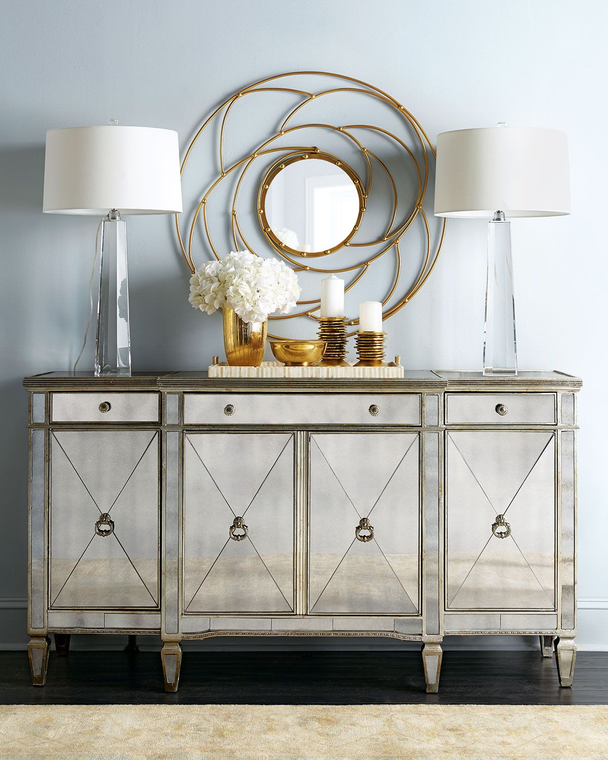 Amelie Mirrored Buffet | Cabinets, Display Units, Shelving With 3 Piece Mirrored Buffets (View 12 of 20)