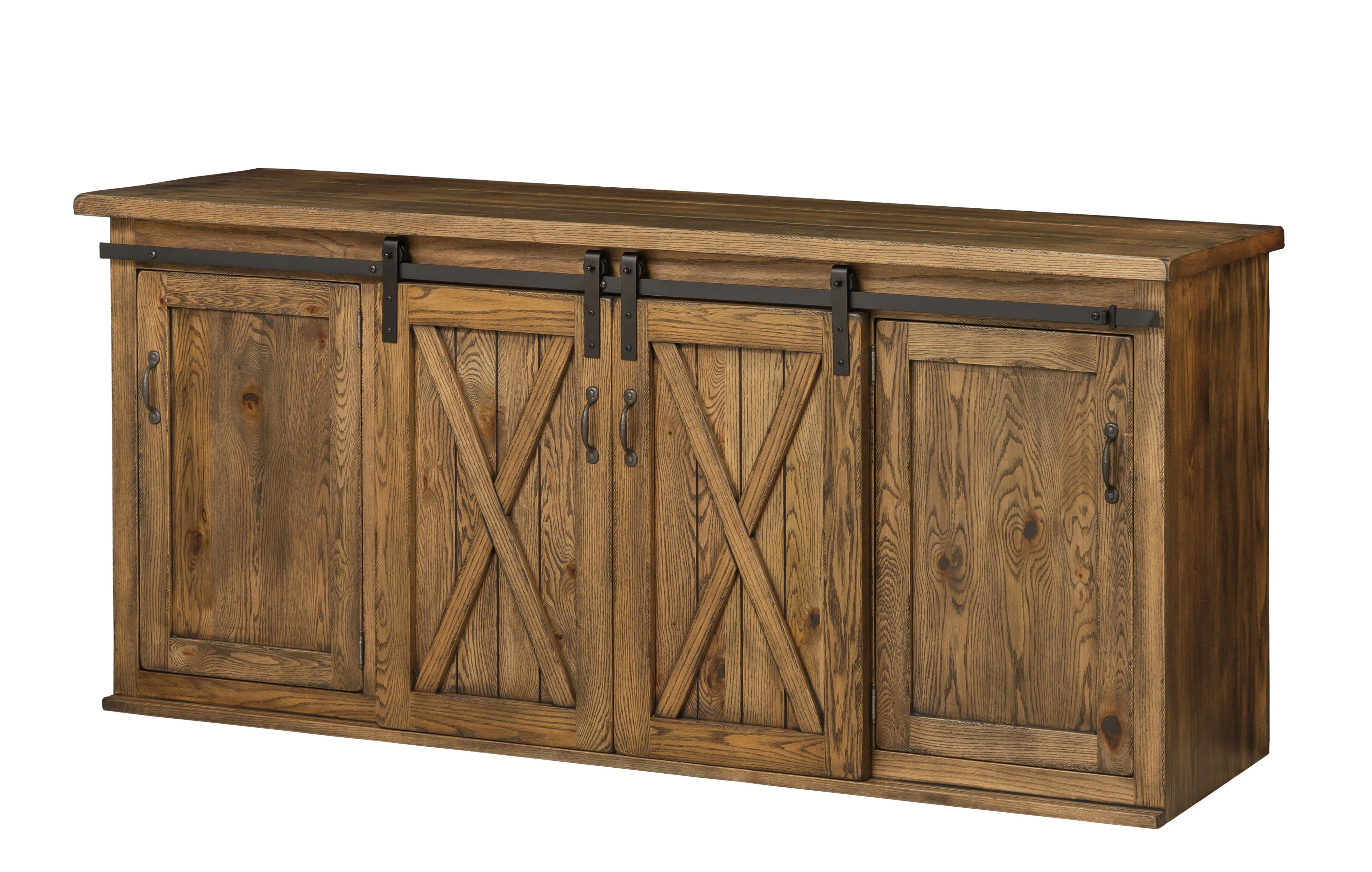 Amish Pierre Buffet With Sliding Barn Doors Throughout Vintage Walnut Sliding Door Buffets (View 2 of 20)