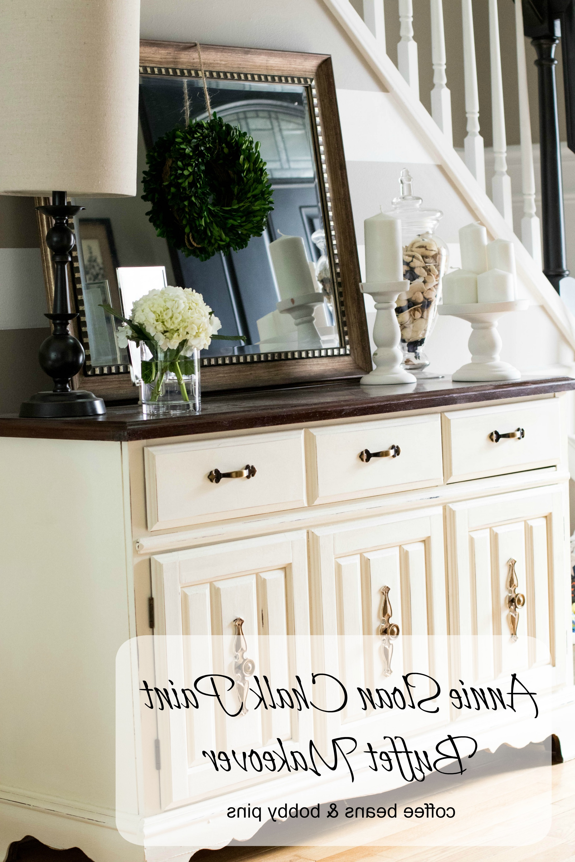 Annie Sloan Chalk Paint: Buffet Makeover | Coffee Beans And With Simple Living Antique White Kendall Buffets (View 20 of 20)