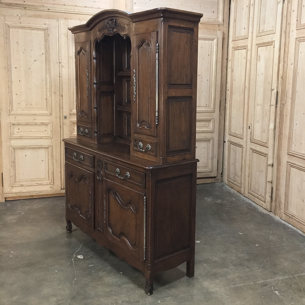 Antique Country French Oak Buffet – Vaisselier – Inessa Stewart's Antiques With Regard To French Oak Buffets (View 5 of 20)