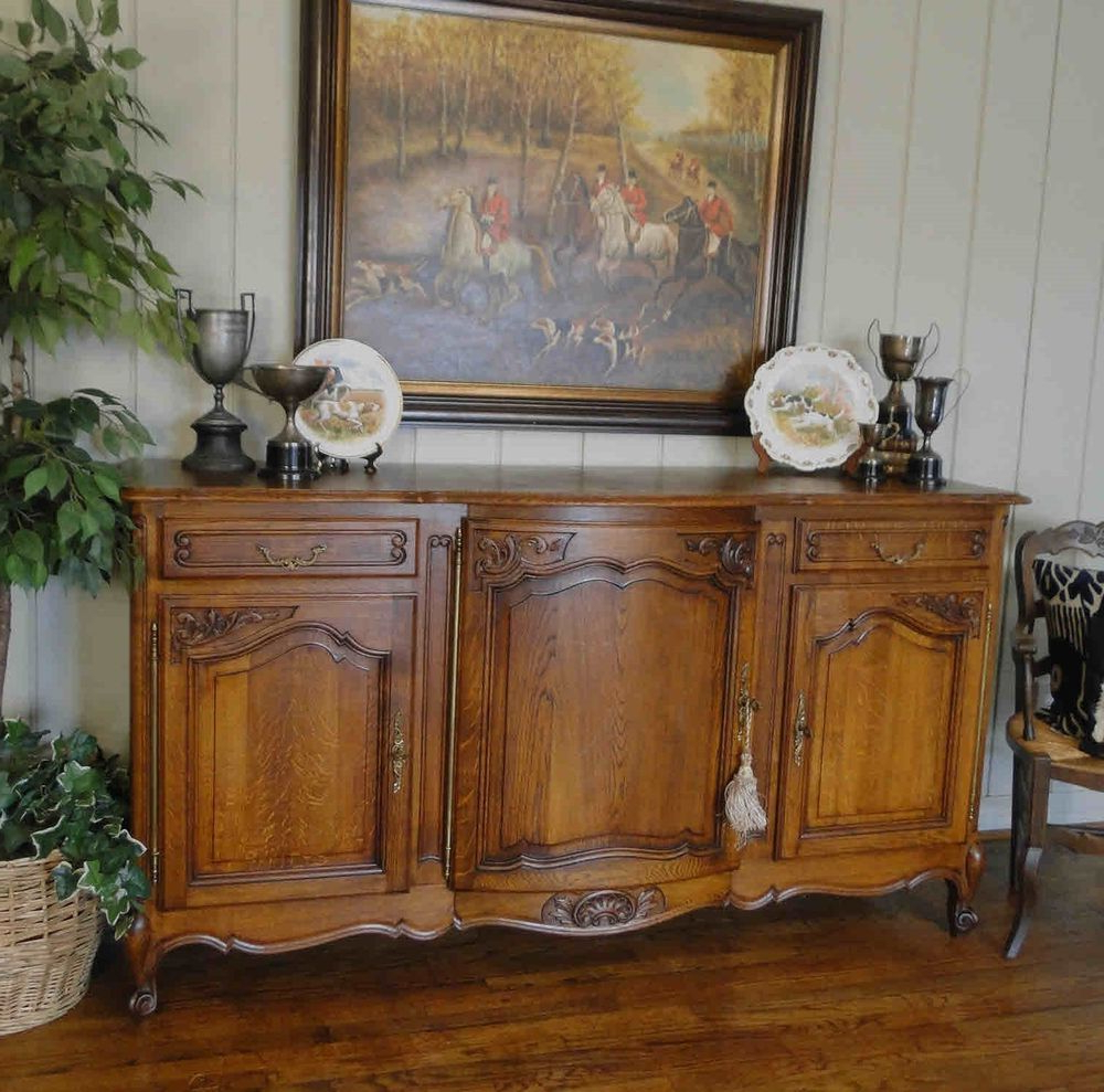 Antique French Country Buffet Sideboard Server Provence Throughout French Oak Buffets (View 7 of 20)