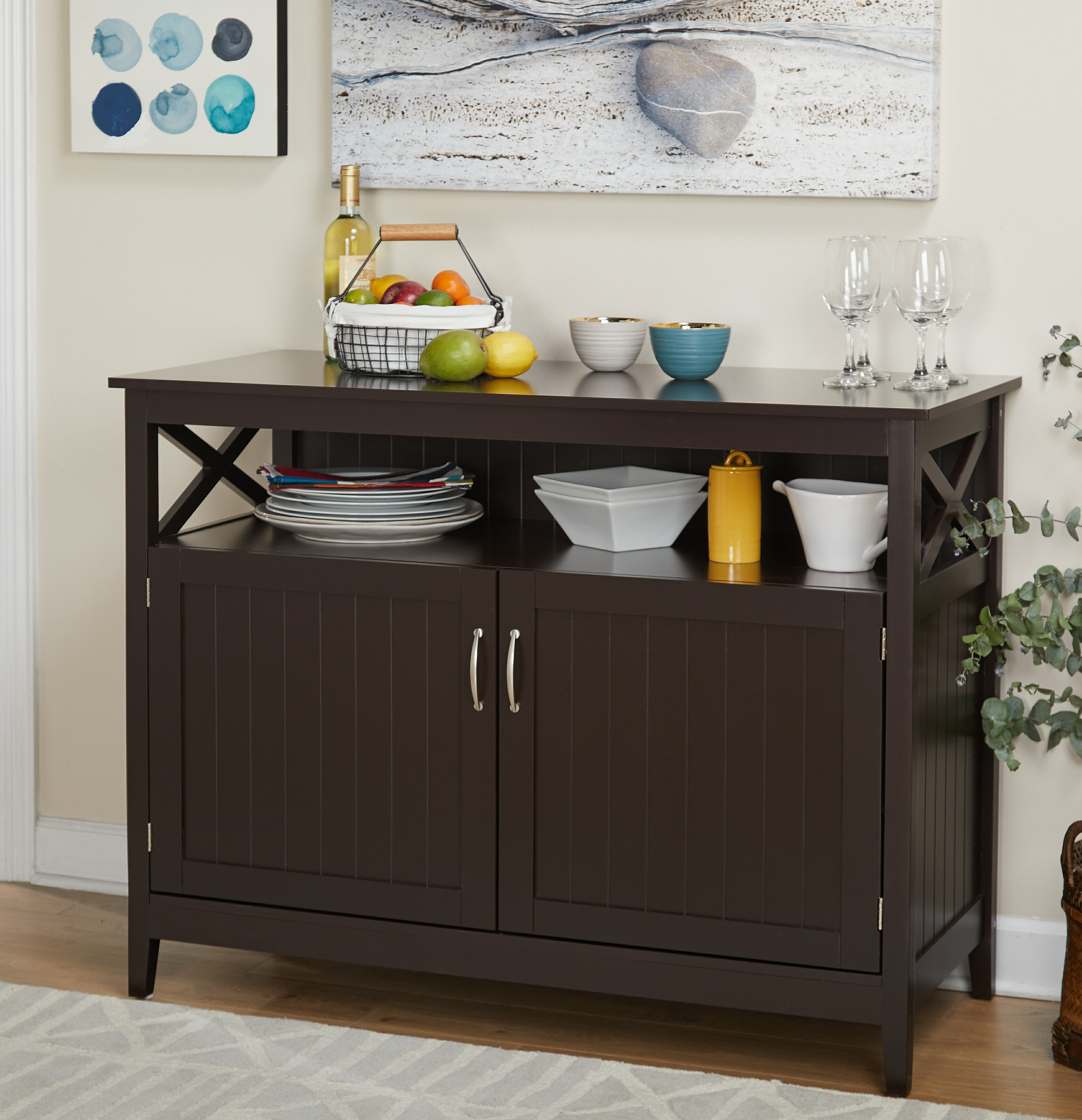 Arabell Server In Simple Living Montego Black Wooden Buffets (View 17 of 20)