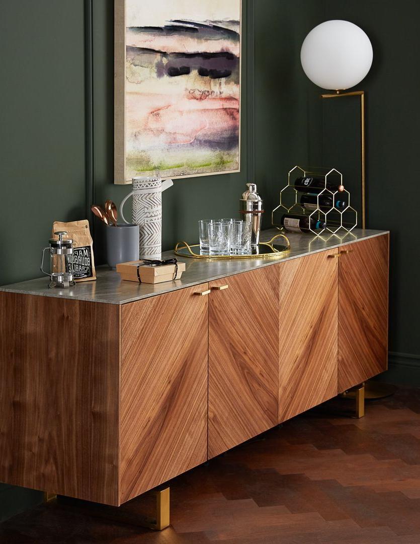 Arto Grey Walnut Veneer Sideboard | Home Decorating Ideas In With Regard To Rustic Walnut Buffets (View 4 of 20)
