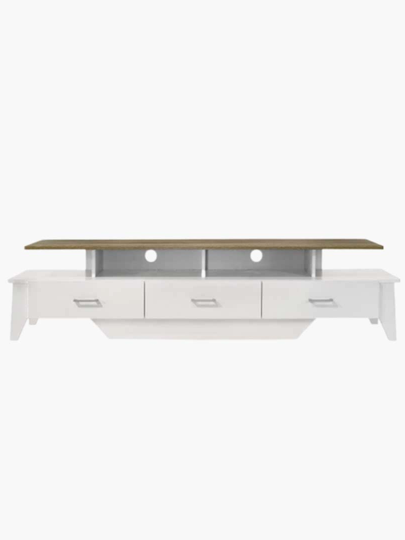Arvee Tv Unit – 180Cm With Regard To Contemporary Wooden Buffets With Four Open Compartments And Metal Tapered Legs (View 2 of 20)